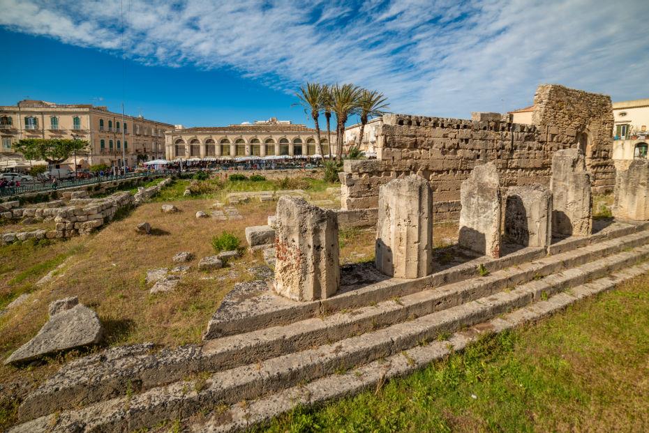 Ruínas do Templo de Apolo em Ortigia