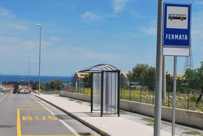 ponto de ônibus na Sicília