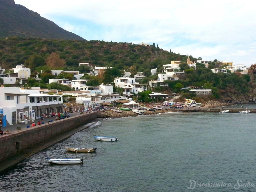 Chegada à Ilha de Panarea, Sicília