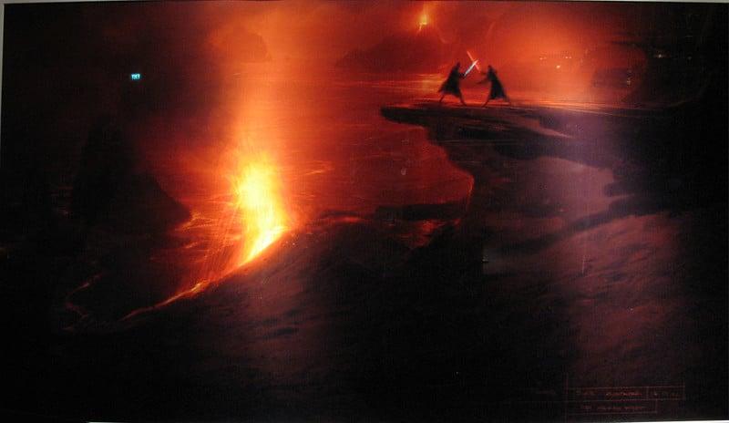 Vulcão Etna no filme Star Wars