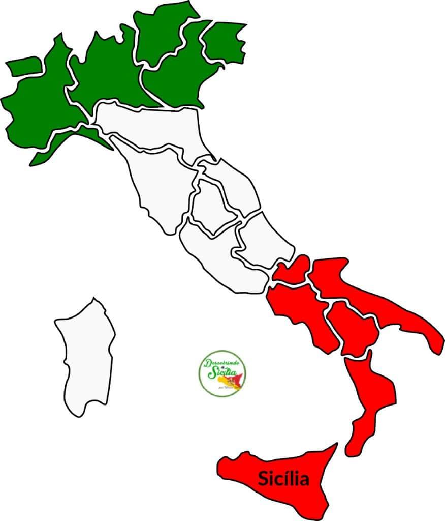 Onde fica a Sicília na Itália