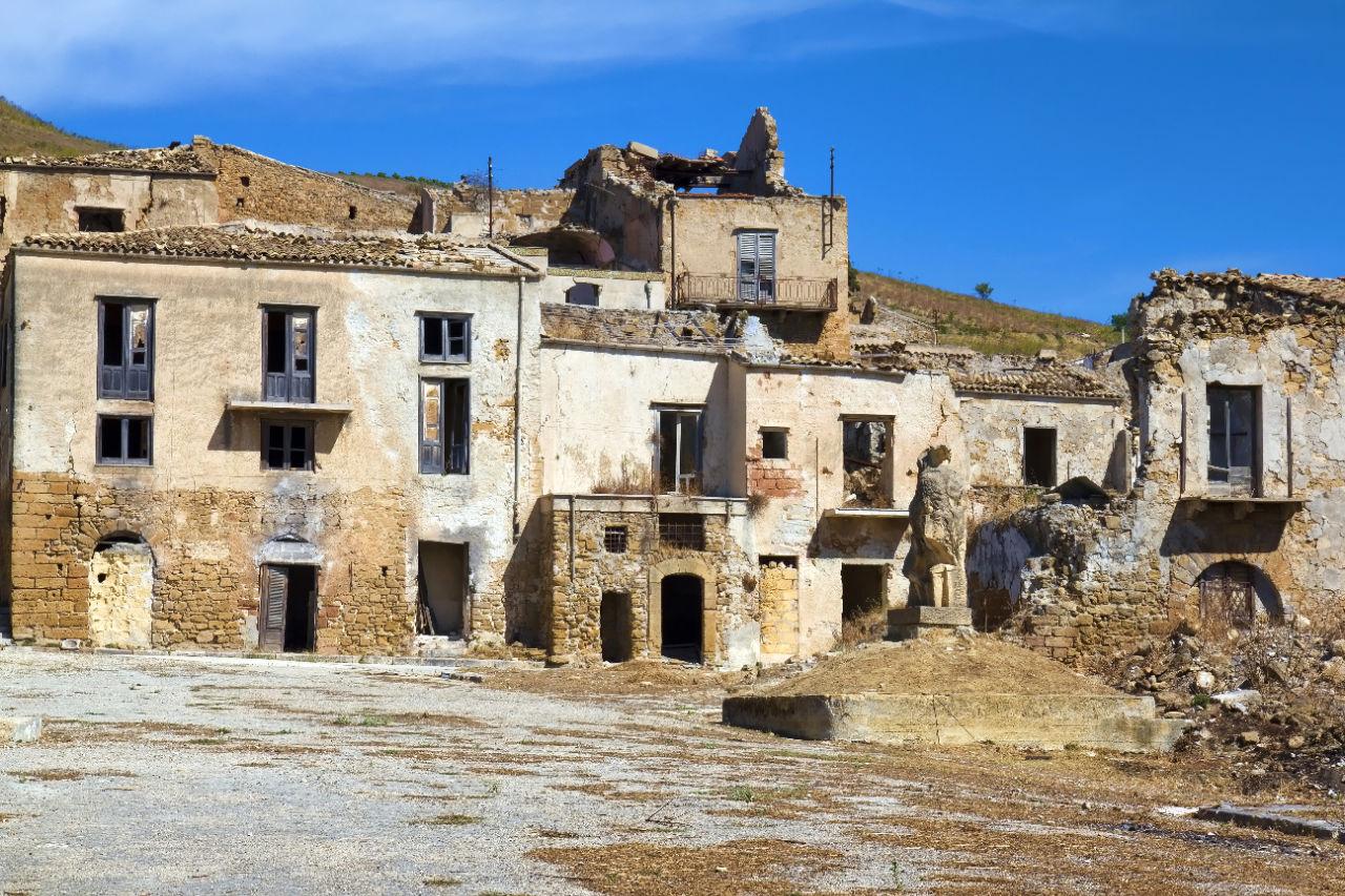 cidades fantasma da Sicília